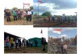 Regu pemadam kebakaran lahan sempatkan upacara peringati HUT Kemerdekaan RI