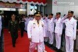 Gubernur Sultra memimpin upacara detik-detik proklamasi Kemerdekaan RI
