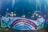 Ketika bendera Merah Putih berkibar di bawah laut Perairan Teluk Benete