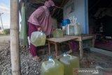 Kesulitan air bersih di pengungsian
