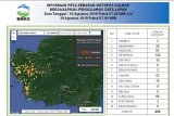 Sebanyak 404 titik panas terdeteksi di wilayah ini