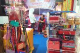 Various TKI knitted products are displayed at the Padang Fair 2019