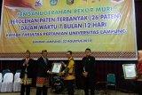 Universitas Lampung raih penghargaan kategori hak paten terbanyak