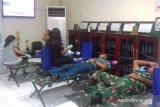 Kodim 1301 Sangihe dan Pertamina melaksanakan kegiatan donor darah