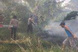 Jajaran Polres Mesuji padamkan kebakaran hutan  gambut