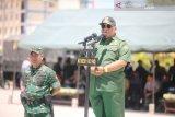 Usai bertugas, 445 Prajurit Satgas Pamtas tiba di Kendari
