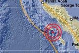 Gempa di Aceh magnitudo  5 tidak berpotensi tsunami
