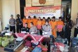 Polres Gunung Kidul mengungkap lima kasus pencurian kendaraan bermotor