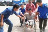 Ratusan penyandang disabilitas di Kalteng terima bantuan dari Kemensos