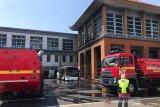 Bus terbakar di apron (GSE)  Bandara Ngurah Rai Bali
