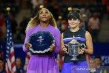 Serena didukung fans tapi apa daya Andreescu lebih perkasa