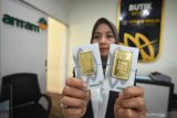 Harga emas batangan alami penurunan Rp5.000 per gram