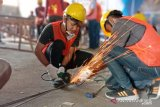 Korban bencana Sulteng dilatih keterampilan konstruksi