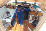 Polisi temukan bendera Italia dan Malaysia di kapal tanpa awak