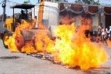 Barang impor ilegal, Seharga 8 milyar dimusnahkan polda Jatim