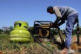 Mesin pompa air berbahan bakar gas