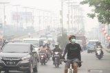 Tak hanya Kalteng, Banjarmasin juga diliputi asap sejak pagi