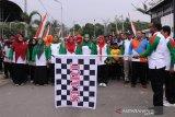 Ribuan masyarakat jalan santai memeriahkan Hari Koperasi di Aceh Timur