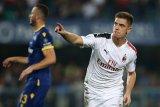 Milan butuh penalti untuk tundukkan 10 pemain Verona dengan skor 1-0
