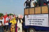 Apresiasi  DPR sahkan revisi UU KPK, elemen masyarakat gelar aksi damai