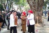 Iriana Joko Widodo kunjungi Puskesmas Palembang kampanyekan deteksi dini kanker rahim