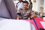 Kabid Humas Polda Lampung sumbangkan darah pada HUT PMI