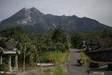 Guguran lava dari Gunung Merapi sejauh 550 meter