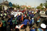 Unjuk rasa aliansi mahasiswa Brebes