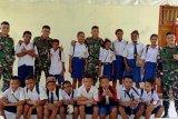 Satgas Yonif 713/ST gelar penyuluhan bahaya narkoba kepada pelajar