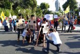 PMII Surabaya demo tuntut mundur pimpinan KPK lama