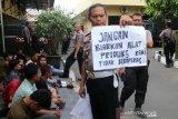 Puluhan pelajar demo bersama KAMMI diamankan