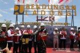 Gubernur Sultra uji coba  pengalihan air sungai Bendungan Ladongi