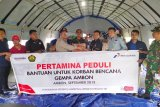 Pertamina kirim bantuan untuk pengungsi gempa di Ambon