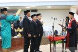 Pimpinan DPRD Lutim masa jabatan 2019-2024 dilantik
