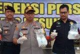 Polres Mesuji gagalkan penyelundupan  sabu dan pil ekstasi