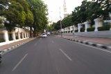 Lalu lintas menuju gedung DPR/MR terpantau lancar
