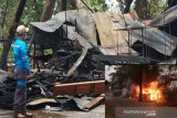 Api tumpukan sampah hanguskan lima kios di Sampit