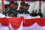 Pengamanan ketat dari angkatan udara saat pelantikan presiden