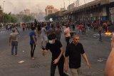 Seorang tewas dalam pawai protes warga Irak menuju Baghdad