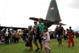 TNI AU kerahkan empat Hercules untuk bantu evakuasi korban kerusuhan di Wamena