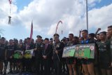 Sambut HUT ke-74 TNI, Serka Astawa berlari 374 km keliling Bali