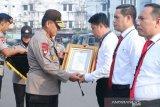 Lima personel Polda  Sumsel terima penghargaan Bareskrim