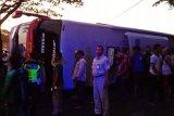 Bus sarat penumpang terguling ke sawah, delapan orang luka-luka