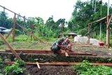 Babinsa Yapsel bantu warga bangun rumah di Kampung Roipi Distrik Angkaisera