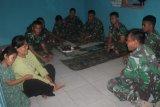 Satgas TMMD tidur di rumah warga Desa Cilibang