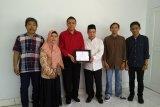 Mahasiswa UIN Alauddin Makassar usai magang di LKBN ANTARA