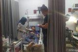 Pekerja terjatuh dari kanopi hotel di Medan