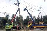 PLN perbaiki 31 tiang listrik tumbang akibat hujan badai, begini strateginya