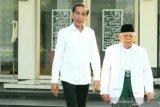 Jokowi sampaikan Pelantikan dirinya dan Ma'ruf Amin berlangsung sederhana dan hikmat
