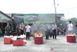 Kejari Ogan Komering Ulu  musnahkan barang bukti narkoba